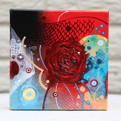 Rose Painting by Yordan Silvera